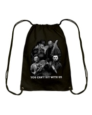 You can't sit with us Drawstring Bag thumbnail