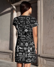 Science formulas on chalkboard All-over Dress aos-dress-back-lifestyle-1