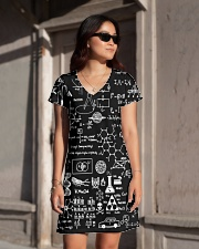 Science formulas on chalkboard All-over Dress aos-dress-front-lifestyle-1