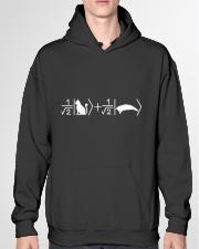 Schrödinger's cat white Hooded Sweatshirt garment-hooded-sweatshirt-front-04