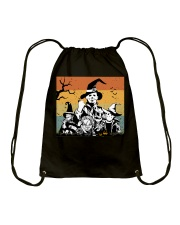 Halloween witch horror Drawstring Bag tile