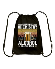 According to Chemistry Alcohol is solution Drawstring Bag thumbnail