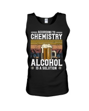 According to Chemistry Alcohol is solution Unisex Tank thumbnail