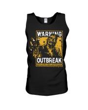 Zombie warning Unisex Tank thumbnail
