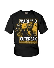 Zombie warning Youth T-Shirt tile