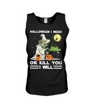 Halloween I need Unisex Tank thumbnail