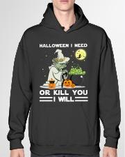 Halloween I need Hooded Sweatshirt garment-hooded-sweatshirt-front-04