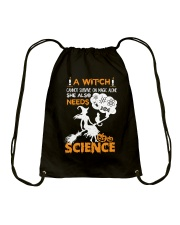 A witch cannot survive on magic alone Drawstring Bag thumbnail