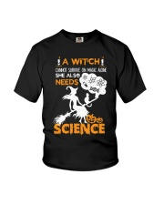 A witch cannot survive on magic alone Youth T-Shirt thumbnail