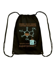 I make coffee disappear Drawstring Bag thumbnail