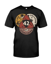 The Answer To Life Universe Everything Classic T-Shirt thumbnail
