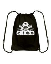 Pirate white Drawstring Bag thumbnail