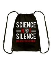 Science not silence Drawstring Bag thumbnail