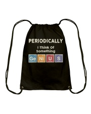 Periodically i think of something genius Drawstring Bag thumbnail