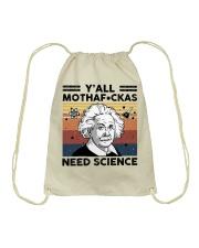 Y'all Motherfuckas Need Science Drawstring Bag thumbnail