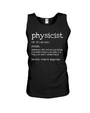 Physicist Define Unisex Tank tile