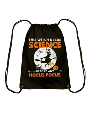 This witch needs science before any Hocus Focus 1 Drawstring Bag thumbnail
