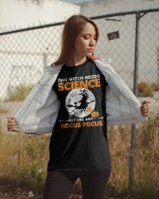 This witch needs science before any Hocus Focus 1 Classic T-Shirt apparel-classic-tshirt-lifestyle-07