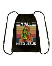 Alien Need Jesus Drawstring Bag thumbnail