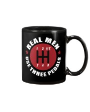 Real Men use Three Pedals  Mug tile