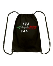 Racing is the way we live Drawstring Bag thumbnail
