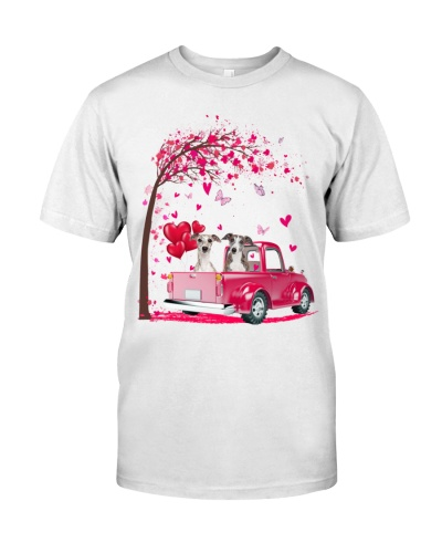 Greyhound pink Truck Valentine's Day