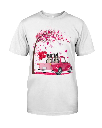Border Collie Truck Valentine's Day