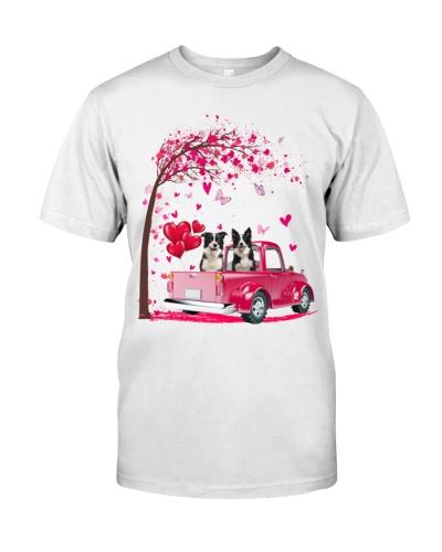 Border Collie Truck Valentine's Day