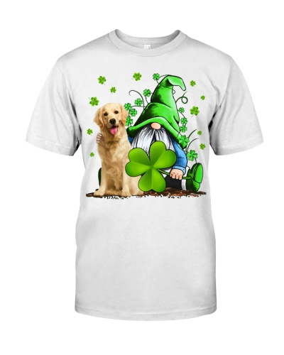Golden Retriever And Gnomes St Patrick's Day
