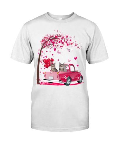 Cat pink Truck Valentine's Day