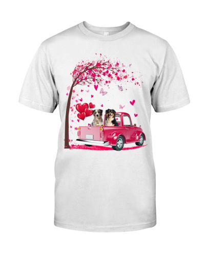 Australian Shepherds Truck Valentine's Day