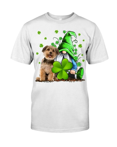Yorkshire Terrier And Gnomes St Patrick's Day