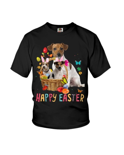 Jack Russell Happy Easter Basket Egg VC