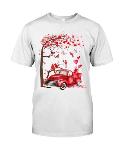 Cardinal bird red truck valentine