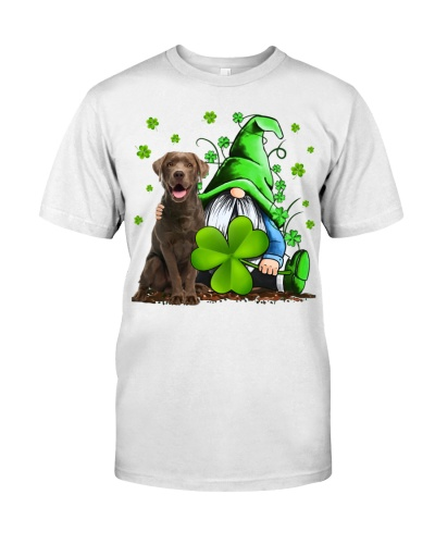 Chocolate Lab And Gnomes St Patrick's Day