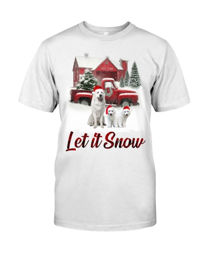 Great Pyrenees let is snow