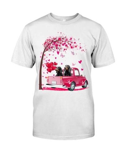 dachshund Truck Valentine's Day