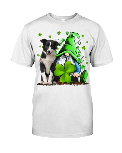 Border Collie And Gnomes St Patrick's Day