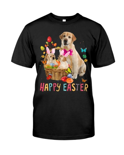Yellow Labrador Happy Easter Basket Egg VC