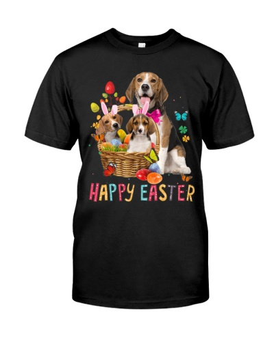 Beagle Happy Easter Basket Egg VC