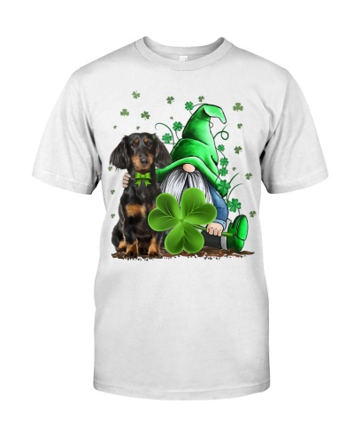 Dachshund And Gnomes St Patrick's Day