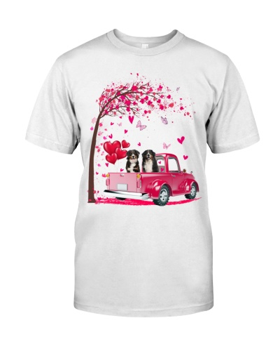 Bernese Mountain Truck Valentine's Day