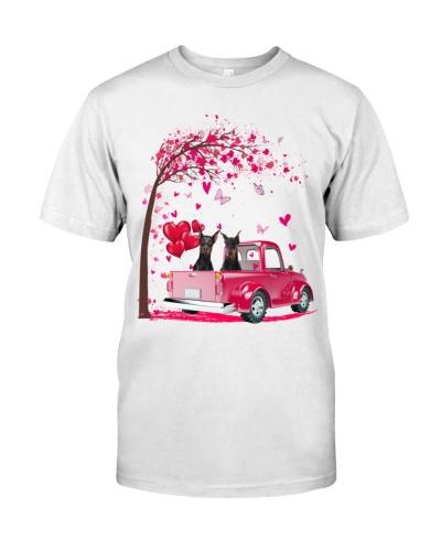 Doberman Truck Valentine's Day