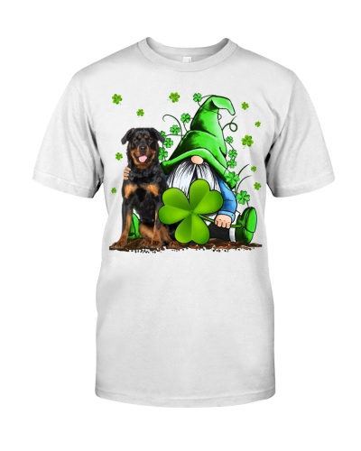 Rottweiler And Gnomes St Patrick's Day