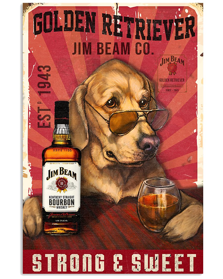Golden Retriever Jim Beam 21-2 TNT 24x36 Poster