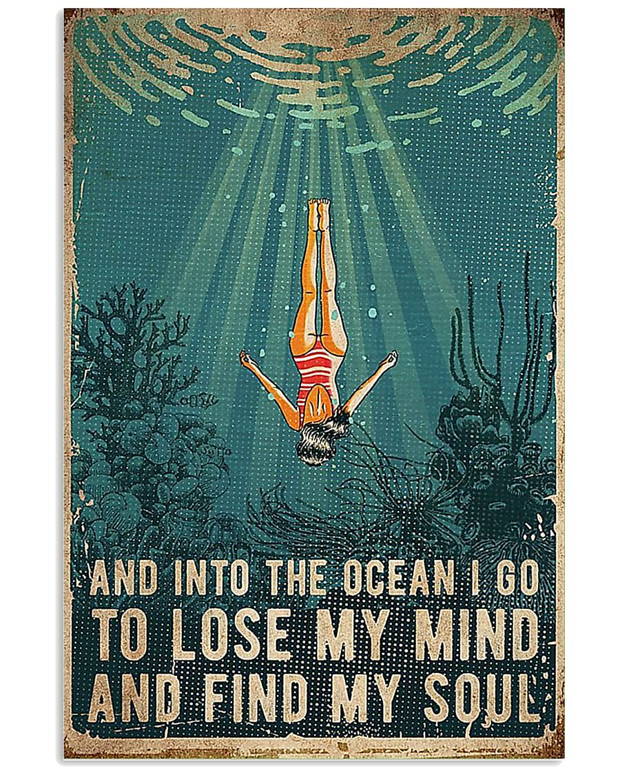 Swimming And into the ocean I go to lose 11x17 Poster