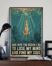 Swimming And into the ocean I go to lose 11x17 Poster lifestyle-poster-2