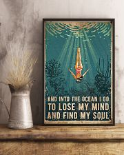 Swimming And into the ocean I go to lose 11x17 Poster lifestyle-poster-3