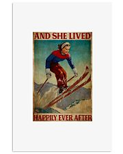 Skiing and she lived happily ever after 24x36 Poster front