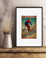 Skiing and she lived happily ever after 24x36 Poster lifestyle-poster-3